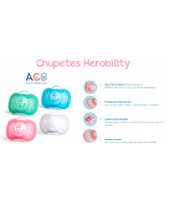 """CHUPETES HEROBILITY """"LUZ NOCTURNA"""" PACK 2 ALIMENTACIÓN 9,95€"""